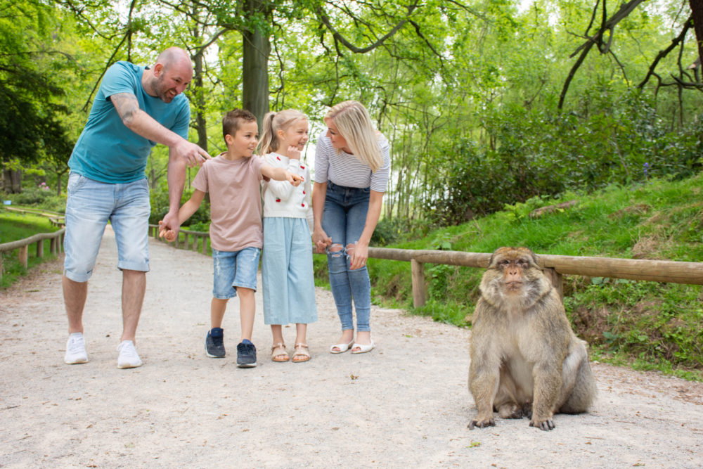 Family at Monkey Forest